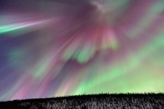 This from the historic St. Patrick's Day geomagnetic storm 'o 2013, captured from the hills outside of Fairbanks, Alaska. I'm still exhausted from the experience, during which the aurora was at or near peak strength (Kp = 6) for the whole night, illuminating the entire sky from horizon-to-horizon. The array of colors, shapes, movements and intensities was just mind-blowing, in a way that photographs unfortunately cannot come close to conveying. To give you a sense of scale...