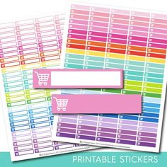Shopping stickers, Shopping planner stickers, Shopping printable stickers, Shopping Cart stickers, Grocery stickers Shopping sticker STI-151