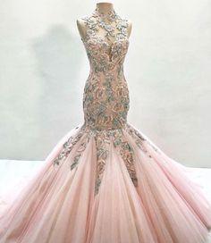 Pink & Green Mermaid Dress