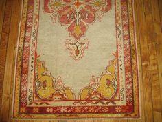 Vintage Decorative Oushak Ushak Rug