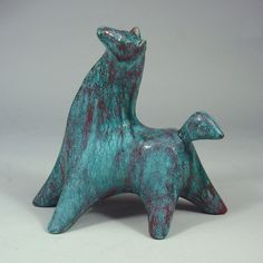 Ceramic Horse believed to have been designed by Marianne Starck Michael Anderson & Son, Bornholm, Denmark Vintage 1950
