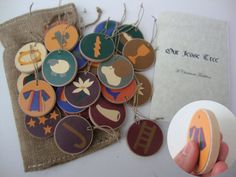 Jesse tree Ornaments to go with the devotional book