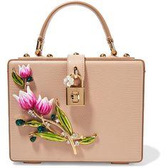 Dolce   Gabbana Dolce embellished lizard-effect leather shoulder bag  (€2.025) ❤ 75c5fe408d471