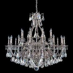 Schonbek Sophia 24 Light Crystal Chandelier Finish: Midnight Gild, Crystal Color: Swarovski Spectra