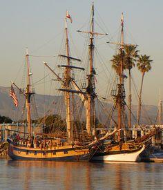 Tall Ships Lady Washington and Hawaiian Chieftain