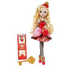 Ever After High Apple White Doll - A filha da Branca de Neve.  Ever After High: Apple White Produzido pela Mattel, aproximadamente 27 cm.  Produto origem (USA)
