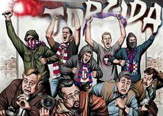 Torcida Split Hnk Hajduk Split, Casual Art, Sports Graphics, Football Wallpaper, Bape, Bad Boys, Illustration Art, Draw, Cartoon