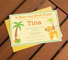 Lion King Printable Invitations. Invite guests to a roar-ing good time with customizable Lion King baby shower invites.