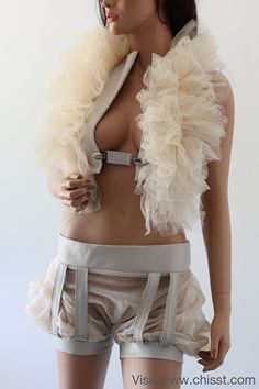 Steampunk Lingerie Bolero Sheer Jacket Bridal Wedding от chrisst