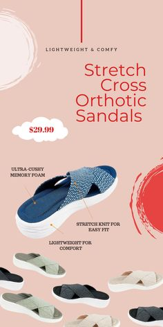Orthopedic Sandals, Ankle Joint, Designer Sandals, Wood Boxes, Walk On, Blue Shoes, Slide Sandals, Simple Style, Strawberries