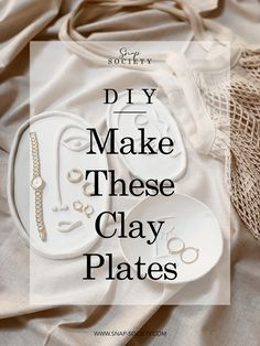 How To: Make These Clay Plates
