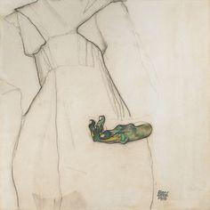 EGON SCHIELE - The Green Hand #1910 / #LeopoldMuseum #Vienna #Wien