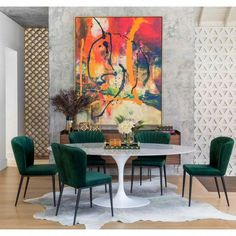 Echo Dining Table, White Marble – High Fashion Home Green Dining Room, Dining Room Design, Dining Room Art, World Of Interiors, Mid Century Modern Dining Room, Kunst Inspo, Diy Furniture Couch, Rooms Furniture, Plywood Furniture