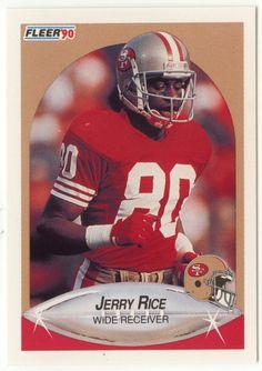 Jerry Rice # 13 - 1990 Fleer Football