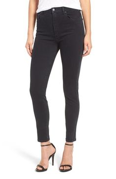 Free shipping and returns on AGOLDE 'Roxanne' Super High Rise Skinny Jeans (Princeton) at Nordstrom.com. A deep, dark wash adds a moody vibe to versatile high-rise jeans cut from denim with plenty of stretch for a curve-hugging, figure-flattering fit.