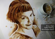 Coffee Art – Pinturas feitas usando apenas café sobre papel por Dirceu Veiga