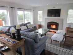Sun-Filled Living Room w/ Gas Fireplace