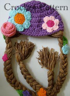 Rapunzel Hat Crochet Pattern PDF by prettythings55 on Etsy, $4.99