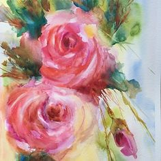 Hoda Nicholas - Roses 3- Watercolor - Painting entry - July 2016 | BoldBrush Painting Competition