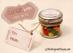 Chocolate Bean (a.k.a. M&Ms) Pillbox DIY // This Blog is Not For You