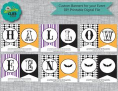 Looking for Halloween party games that are easy to plan and fun for all ages? These Halloween games are unique, fun, and perfect for kids or adults! Printable Banner, Printables, Scary Circus, Halloween Carnival Games, Easy Halloween, Games For Kids, Games For Children, Print Templates