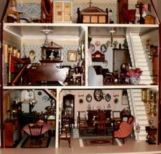 pictures from a georgian dollhouse, amazing interior