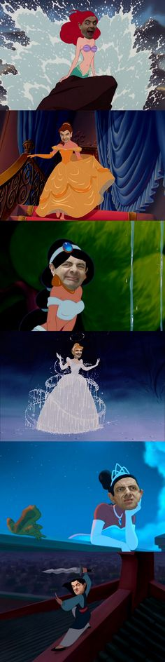 Mr. Bean Disney Princesses