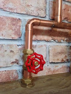 Handmade 22mm Copper Tap with Red GateValve & Stop Cock