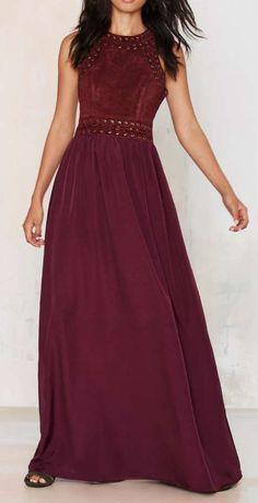 Alli K Cleo Cutout Maxi Dress
