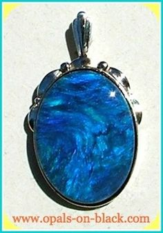 Black Crystal Opal Pendant from Opals-On-Black.com