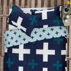 CHRISTO by Ardor - LOVE LOVE LOVE #blue #crosses #quiltcover #manchester #homewares #interiordesign #living #bedroom #decor #fashion #linen #bedlinen #summer #modern #bedding #homedecor #style #fun #life #shopping #fashion #love #pretty #beautiful #Moderninteriordesign  #Interiorarchitecture  #Decor #Homedecor #marrickville #manchesterfactory