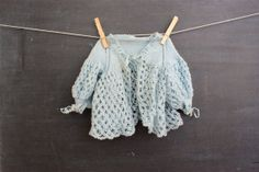 Vintage A Little Blue Loose Knit Sweater With by thelittlemonsters, $14.00