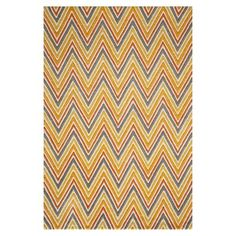 Douglas Chevron 100% Wool Rug - Red
