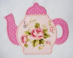Teapot Machine Embroidery Applique Design 4x4 and 5x7