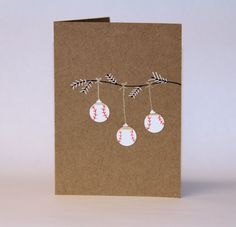 Jingle Balls- Baseball Christmas Card on Etsy, $3.50