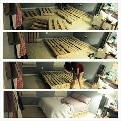 Full-size pallet bed