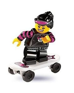 TAKARA TOMY LEGO Minifigures Series 6 Skater Girl Some Minifigures skate for fame. Others skate for thrills. But for the Skater Girl, its all about having fun! It doesnt matter what anyone else thinks about her skating skills as long as she can.