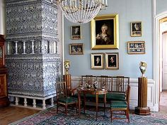 Rundale Palace , warming  oven from Holland tiles, Latvia