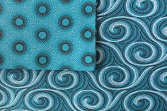 "ShweShwe Pillowcase in ""Blue Wave"" and ""Blue Sun"" patterns from AfriKat - handmade in Berlin with authentic South African ShweShwe fabrics - www. Berlin, Wave, Pillow Cases, Fabrics, African, Throw Pillows, Sun, Patterns, My Favorite Things"