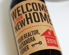 Realtor Closing Gift Personalized StickerTag or Wine Label
