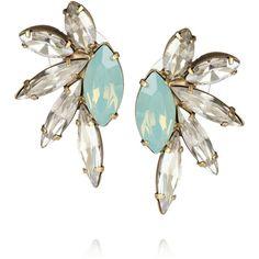 Elizabeth Cole Swarovski crystal-embellished earrings (460 HRK) found on Polyvore