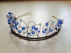 Crystal tiara blue