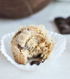 Whole Wheat Peanut Butter Chocolate Chip Muffins
