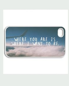 Apple iPhone 4 4G 4S 5 Case Cover Cute Where You by CaseRepublic, $15.00