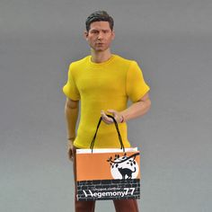 16th scale yellow T-shirt for ~ 12 inch collectible poseable figures and dolls e.g Hot Toys TTM 19 Phicen TBLeague M31 M32 M33