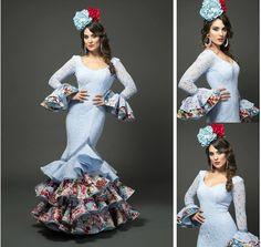 Modelo Angela de la coleccion Tamara Flamenco Dance 2015 https://www.tamaraflamenco.com/es/angela-celeste/trajes-de-flamenca-2015-mujer-549#.VdbvZPntlBc