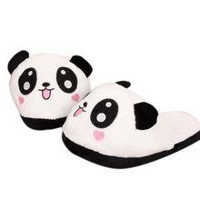 Chinelos Em Casa mulheres Forma Panda Dos Desenhos Animados Inverno Quente Plush Chinelos Chinelos Antiderrapante Interior Sapatos Menina Bonito Peluche #9220(China (Mainland))