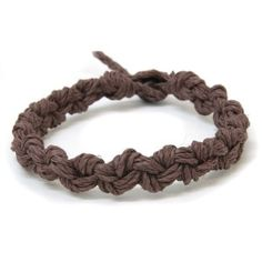 Brown Chain Hemp Bracelet