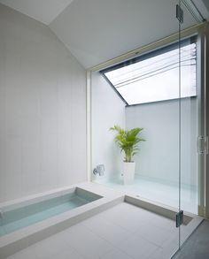 I love floor-level tubs.  Ogaki House by Katsutoshi Sasaki and Associates