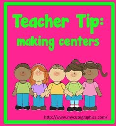Tip for making centers at Teach123!